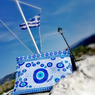 Χειροποίητη τσάντα φάκελος Greece Mairyland.gr