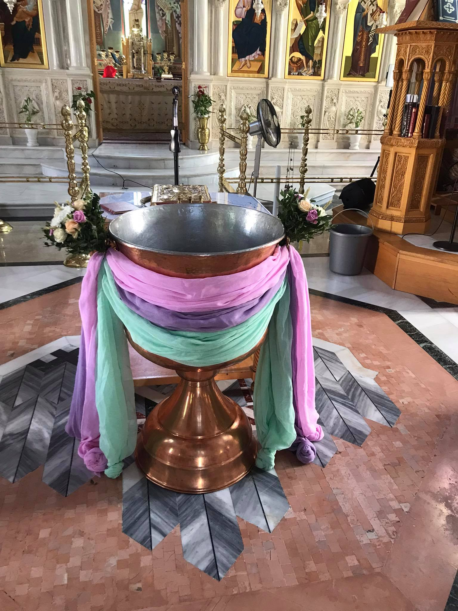 Διακόσμηση βάπτισης με θέμα ουρά γοργόνας 30