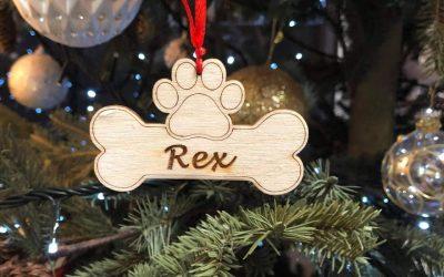 Χριστουγεννιάτικο στολίδι για σκυλάκι με όνομα Mairyland.gr